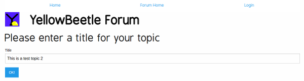 Add Topic Screen